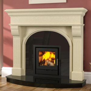 Newbridge fireplace with Faro 600 insert stove