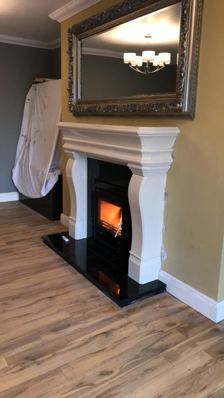 Hemmingway fireplace with Vitae 9kW Cassette Stove