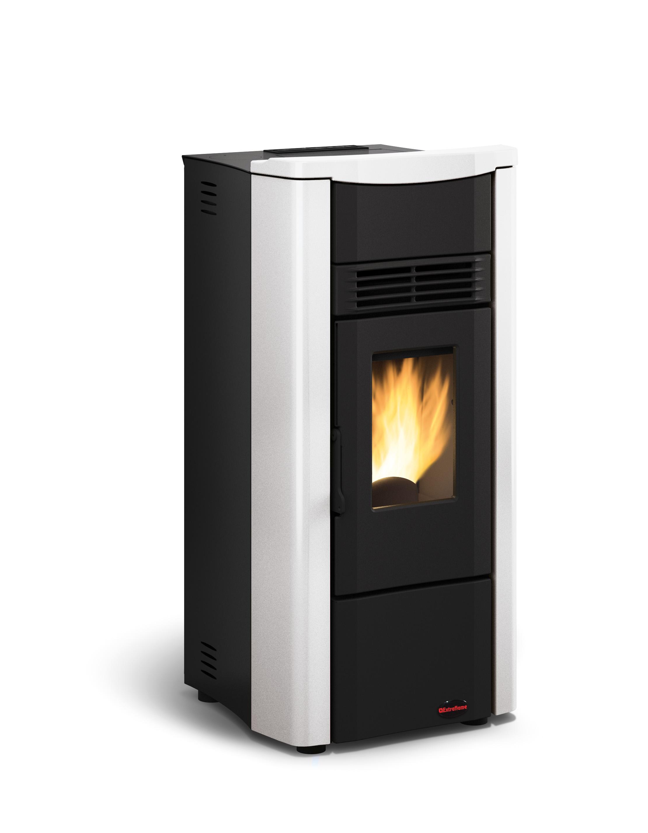 Giusy pellet stove white
