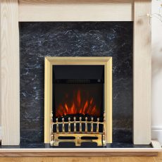 Blenheim Brass electric fire