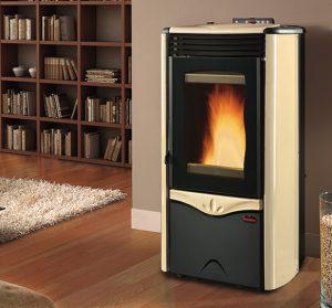 Duchessa Idro steel boiler pellet stove