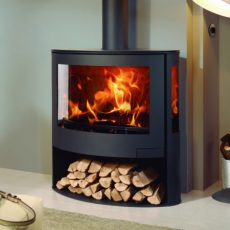 panadero iris ecodesign wood burning stove