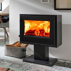 panadero verne ecodesign wood burning stove