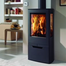 panadero zinc ecodesign wood burning stove